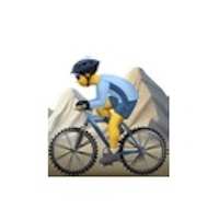 emoji posture catastrophe bike