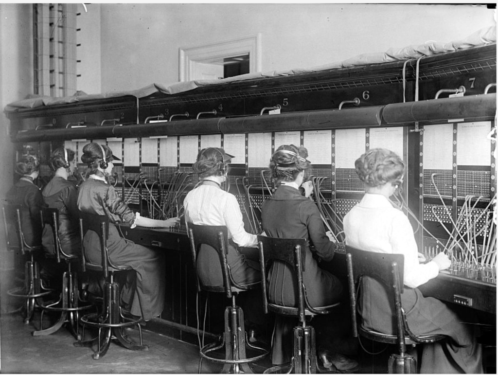 telephone operators in Durban, South Africa, circa 1915