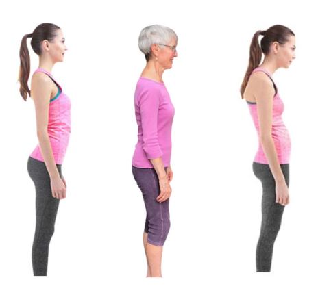 posture of three women