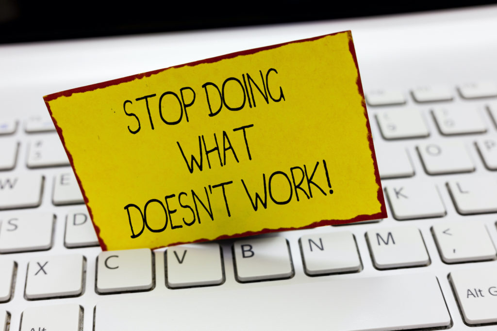 habit power stop doing what doesn't work